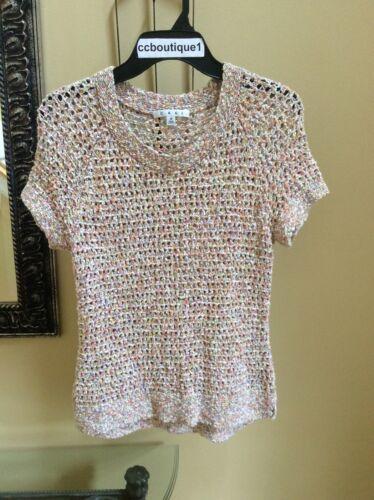CAbi 100% Cotton Womens M Crochet style Multi past