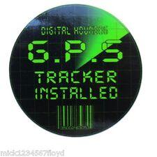 Gps Tracker Seguridad Motocicleta Decal Sticker Gráfico X 2