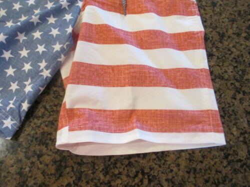 George Mens 3XL 48 50 Shorts Sunwashed American Flag E-Board Swim Trunks NWT New