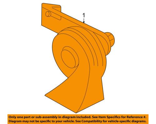 FORD OEM 08-11 Focus-Horn 9S4Z13832A