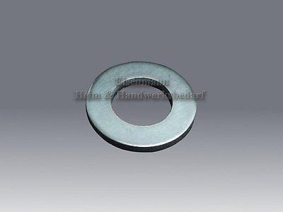 Unterlegscheiben 3,2 - 31,0 mm DIN 125 Scheiben M3 - M30 verzinkt Beilagscheiben