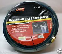100' Blue Rubber Air Hose 300 Psi 1/4 Npt Air Fitting Tools Sprayers Compressor