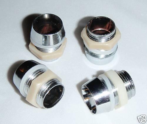 for RC led Lights 50 10mm Led Holders Chromed