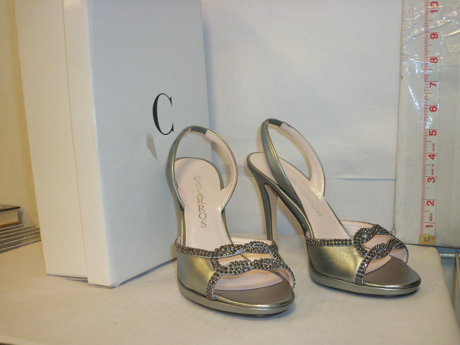 Caparros New Womens Winnie Mecury Metallic Slingback Heels 6 M shoes
