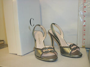 cc779605c1c6 Image is loading Caparros-New-Womens-Winnie-Mecury-Metallic-Slingback-Heels-