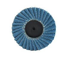 10Pcs 2 Inch Roloc Roll Lock Flap Disc Zirconia Alumina Grinding Wheel For Metal