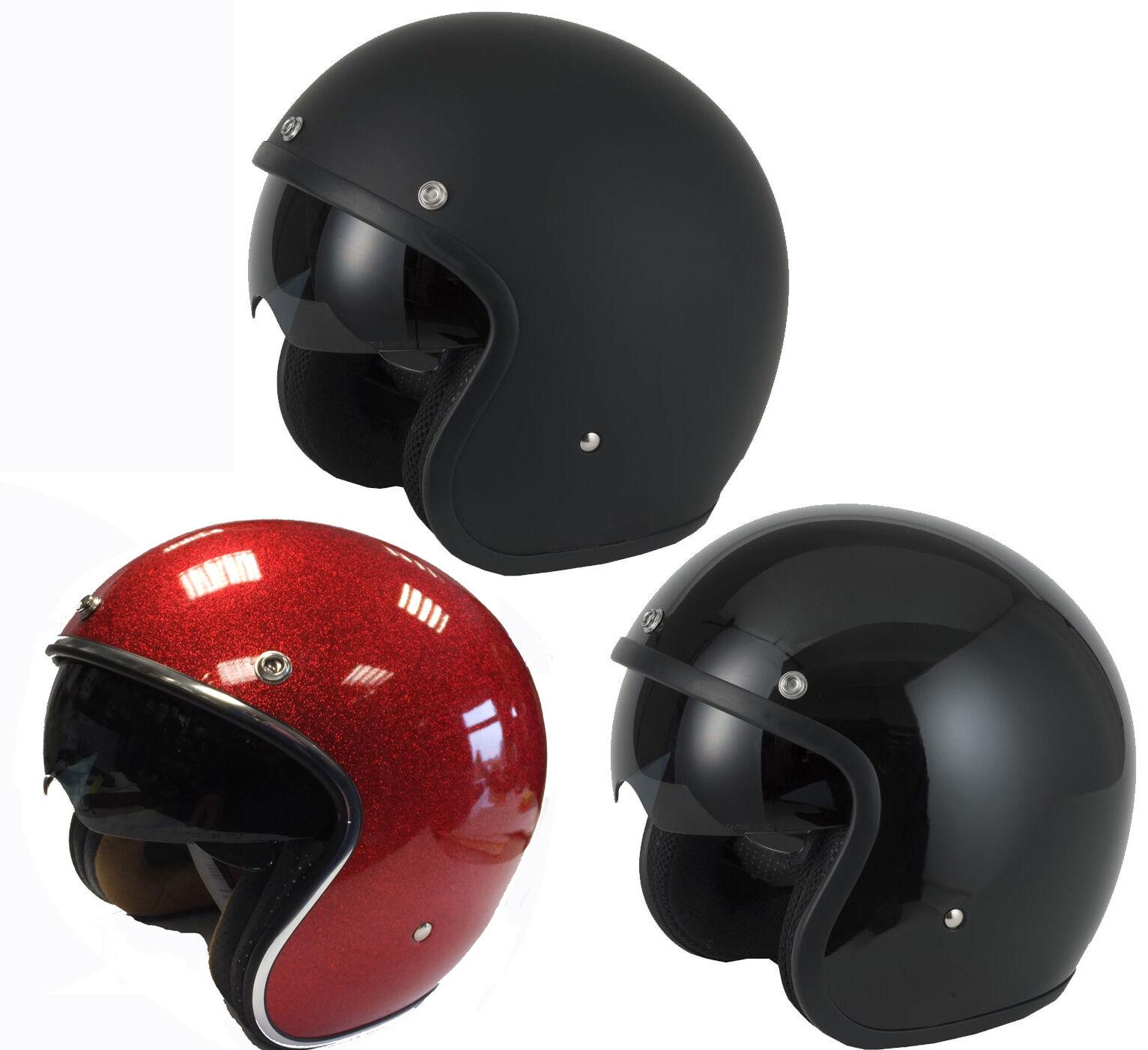 V-Can V537 (Rs-V06) Offenes Gesicht Roller Motorrad Retro Glänzender Helm,
