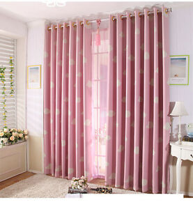 Image Is Loading Lovely Cloud Blockout Curtain Custom Made Curtains  Children