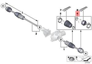 Details about Genuine BMW X5 E70 F15 Front Axle Outer CV Joint Boot Repair  Kit OEM 31607608096