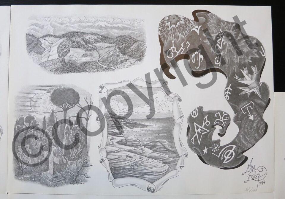 Billeder, Tattoo flash sheets