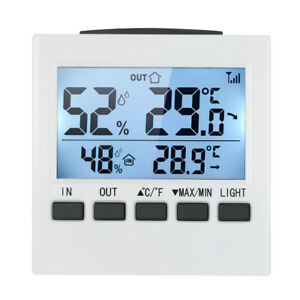 Digital Wireless Indoor Outdoor Thermo-Hygrometer Thermometer HumidityMeter