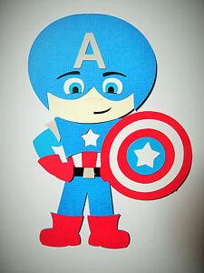 super hero captain america paper doll paper die cut scrapbook