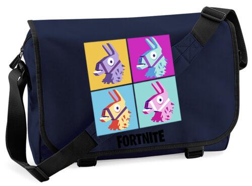 Gaming Battle Royale Llama Collage Messenger Bag
