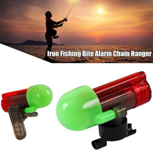 Electronic Fish Bite Strike Sound Alarm Bell Alert Clip-On Fishing Rod Pole d d