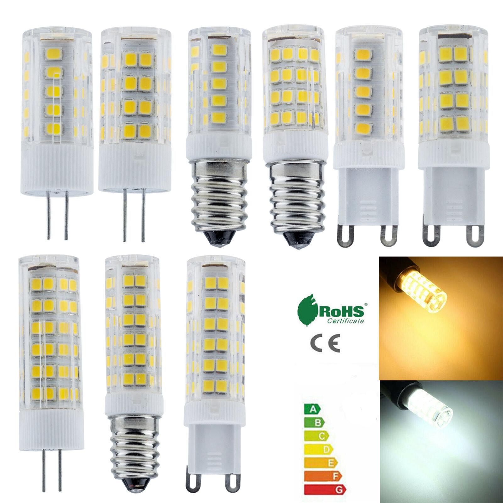 G4 G9 E14 5W 8W 12W Ceramics LED Corn Bulbs Capsule Crystal Lights White Lamp RC