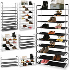 3/5/10 Tier Shoe Rack Storage Stand Shelf Shoes Footwear Home Organiser 50 Pairs