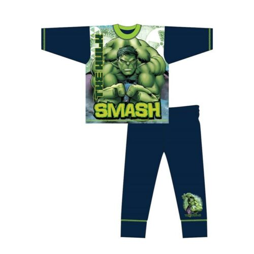 character nightwear Marvel Avengers 4-10 yrs Incredible Hulk pj BOYS PYJAMAS