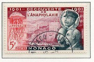 Acheter Pas Cher Timbre De Monaco Oblitere N° 395 Charles Richet Et Paulportier