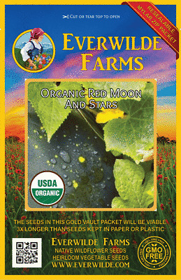 Everwilde Farms Mylar Seed Packet 1//4 Lb Black Diamond Watermelon Seeds