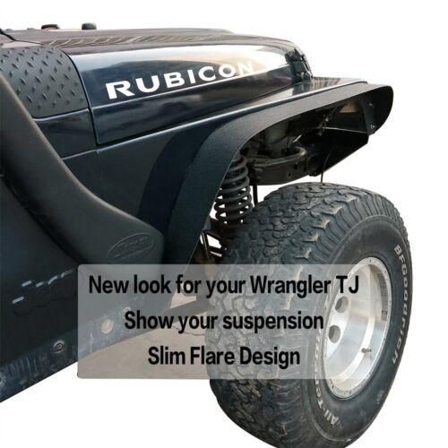Hooke Road Textured Front /& Rear Fender Flares For 97-06 Jeep Wrangler TJ