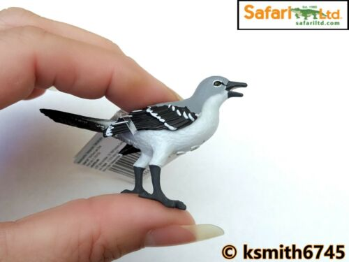 Safari Mockingbird Juguete Animal Salvaje Zoológico de plástico sólido Pájaro Nuevo