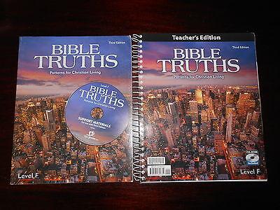 BIBLE TRUTHS  Level F Patterns for Christian Living Bob Jones BJU Homeschooling