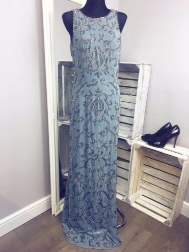 AS-30//30 Maya Tall All Over Sequin Patterned Maxi Backless Detail RRP £150