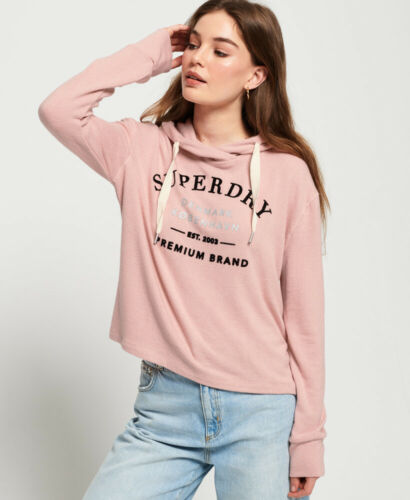 Superdry Womens Super Soft Cropped Hoodie