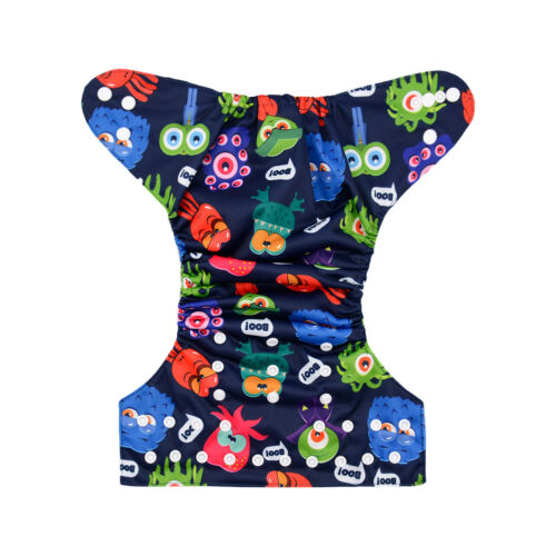 ALVABABY Cloth Diapers One Size Reusable Washable Pocket Nappy Insert U Pick