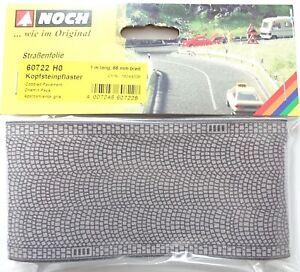 90-76-m-NOCH-60722-H0-Kopfsteinpflaster-Strassenfolie-1000-mm-x-66-mm-Neu