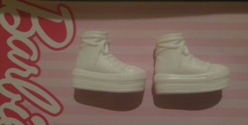 FLAT bottom white HIGH TOP tennis shoes for Barbie