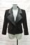 thumbnail 1 - Yves-Saint-Laurent-Vintage-Jacket-Brown-Velvet-Size-34-Black-Satin-Lapel-Blazer