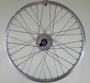 20-Zoll-Laufrad-Vorderrad-Shimano-Nabendynamo-DH-C3000-3N-silber-Kastenfelge