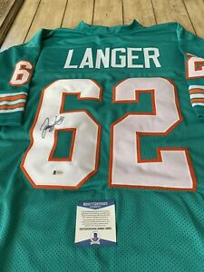 Jim-Langer-Autographed-Signed-Jersey-Beckett-COA-Miami-Dolphins