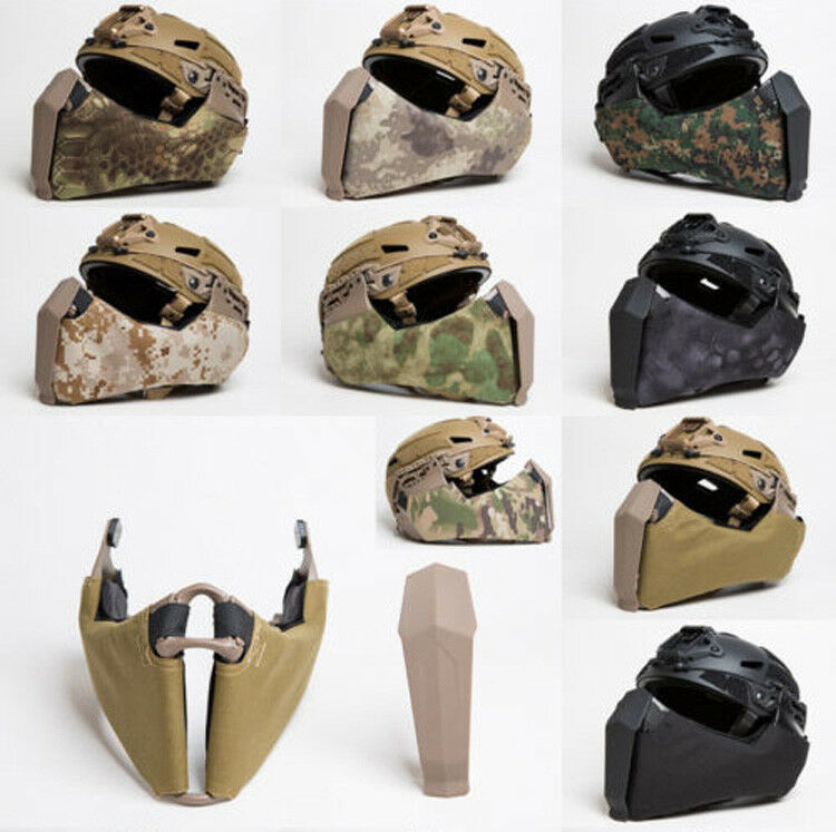 FMA Tactical Mandible Half Face Mask for Highcut Helmet Side Guide Rail