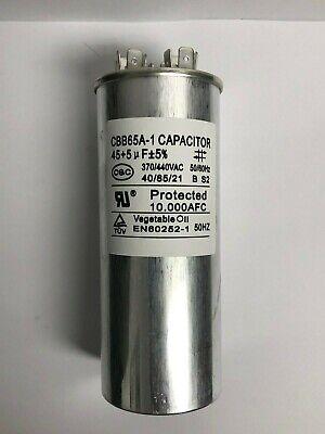U.L Listed -Smart Electric Run Capacitor-45 MFD//UF-370//440V -Single New