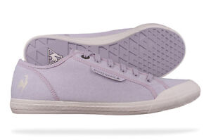 fdb0acbd2b92 Image is loading Le-Coq-Sportif-Deauville-Plus-Girls-Canvas-Trainers-