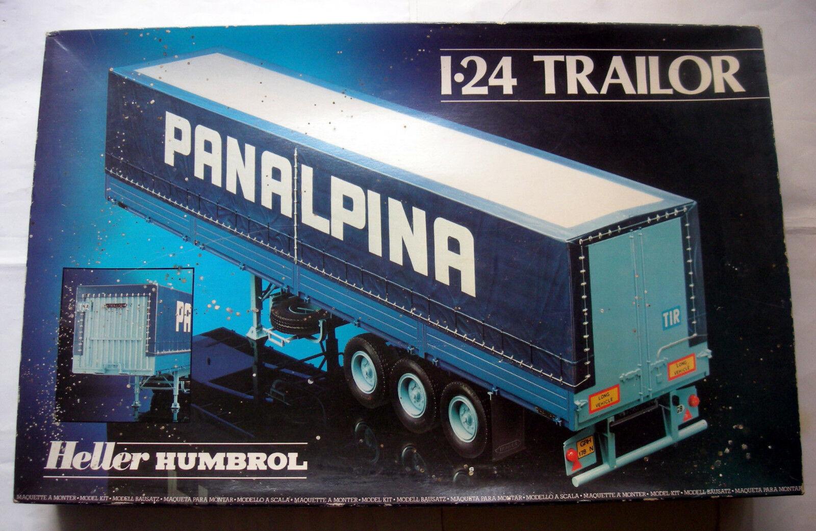 Maquette HELLER HUMBROL 1 24 - REMORQUE TRAILER CAMION PANALPINA   DANZAS