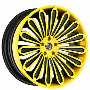 "(4) 21"" Lexani Forged Wheels LF-Luxury LZ-757 Crypto Custom Paint Rims(B30)"