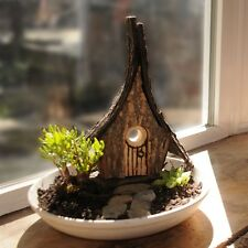 Fairy Cottage - Gnome Home - Whimsical garden or planter decoration Mother's Day