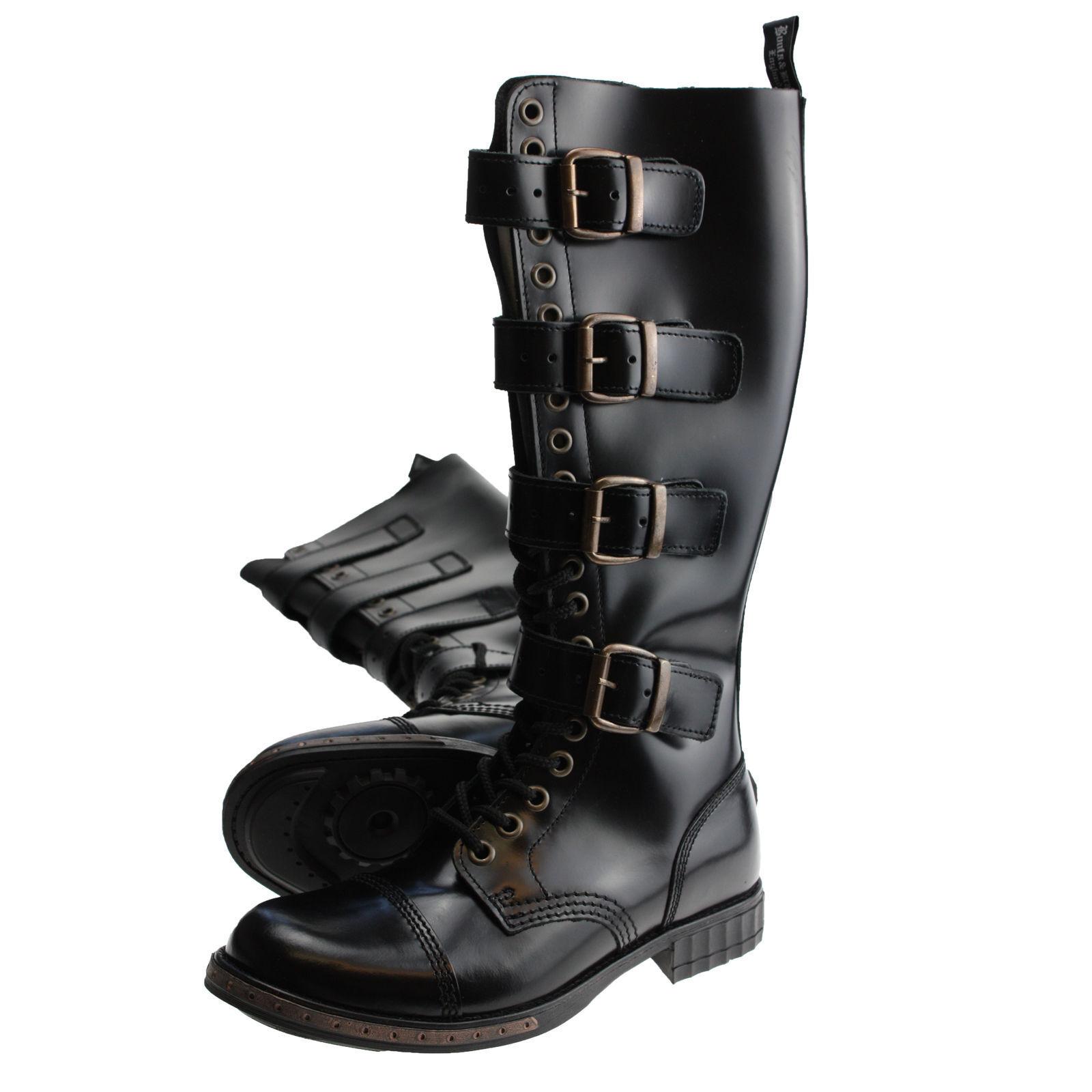 botas and Braces 20 Loch 4 Bronce Schnallen Steampunk Stiefel Negro Bronce 4 ohne Stahl 55a09a