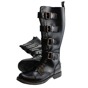 boots and braces 20 loch 4 schnallen steampunk stiefel. Black Bedroom Furniture Sets. Home Design Ideas