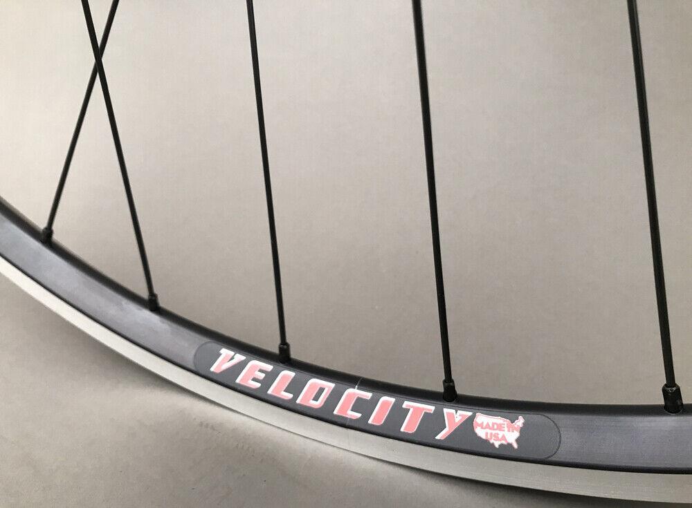 Image 2 - Velocity A23 Black Rims Suzue Hubs Single Speed Track Fixed Gear Bike Wheelset