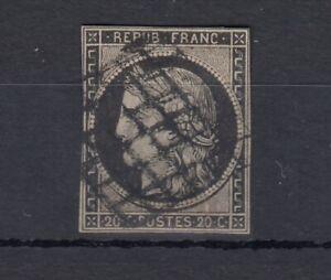 FRANCIA-1850-20c-CERES-HUNGARIAN-buoni-margini-SG9-USATO-J4455