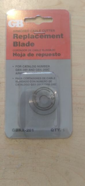 GB BX Cutter Replacement Blade Cat # Gbrx-201 for sale online