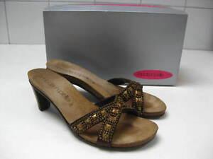 Ladies-MODA-IN-PELLE-bronze-HIGH-SANDALS-heels-size-UK-5-STUDDED-VAMP