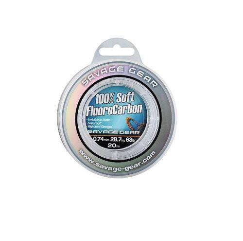 Savage Gear Soft Fluoro Carbon Schnur 0,39mm 35m 9,4kg 21lbs Fluorocarbon