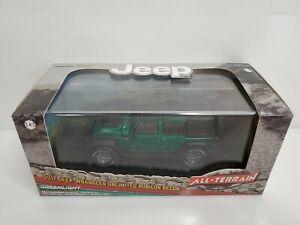 Rare-Greenlight-All-Terrain-2017-Jeep-Wrangler-Unlimited-Green-Machine-Chase