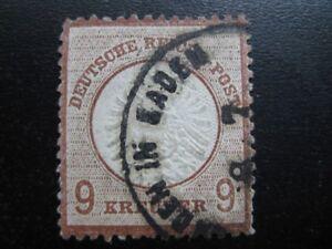 DEUTSCHES REICH Mi. #27 rare used Brustschild Shield stamp! CV $660.00