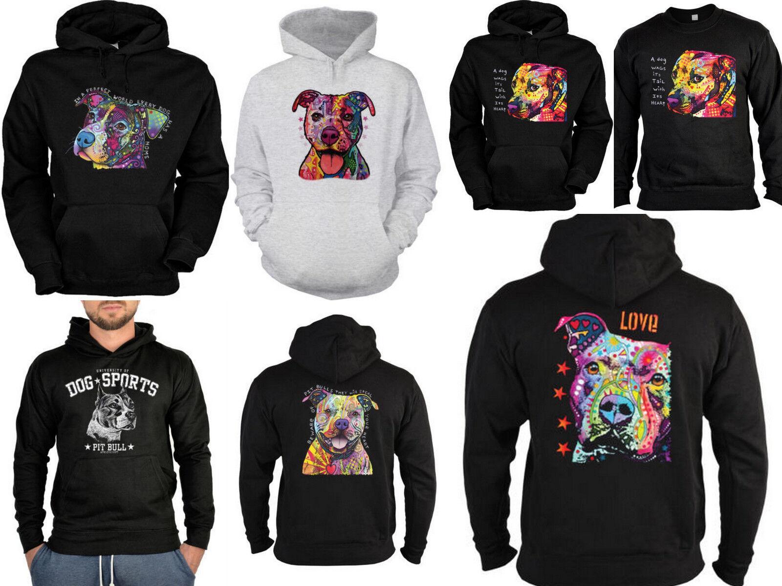 Pitbull Sweater - Kapuzensweater - Zip Hoodie Hunderassen Hunde Motiv Pit Bull